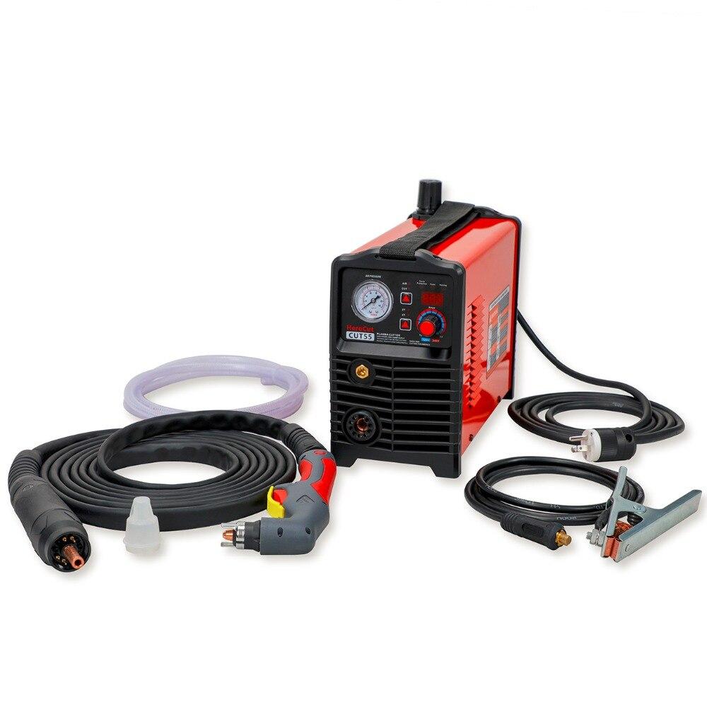 CNC IGBT Non-HF Arc Pilote Cut55 Numérique Contrôle Plasma Cutter Double Tension 120 v/240 v, machine de découpe Travail avec CNC table