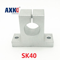 Axk 2 unids/lote Sk40 Sk Stand-up Árbol de Soporte Cnc Base de Apoyo de los Ejes Lineales, Soporte de Eje Vertical