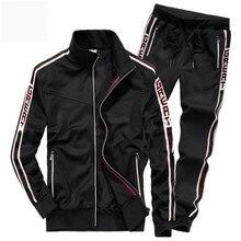 AFS ZDJPยี่ห้อใหม่ผู้ชายชุดแฟชั่นฤดูใบไม้ร่วงฤดูใบไม้ผลิชุดกีฬาเสื้อ + Sweatpants Mensเสื้อผ้า 2 ชิ้นชุดSlim tracksui