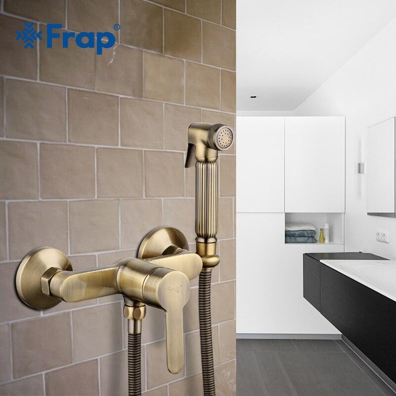 Frap new Antique toilet cleaner set bronze clean hand shower spray bidet sprayer gun toilet faucets shower bidets enema F2041-4