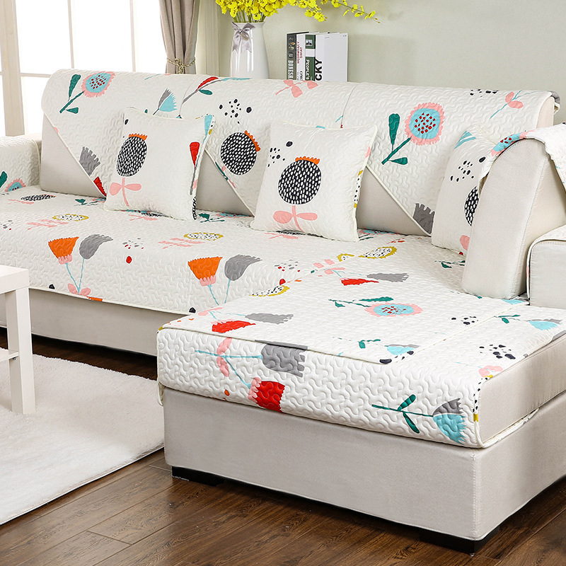 Cotton Sectional Cheap Couch Sofa Covers Towel Settee