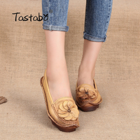 Tastabo Flats Women Shoes 2017 New Women Casual Shoes Breathable Slip On Loafers Ballet Flats Handmade