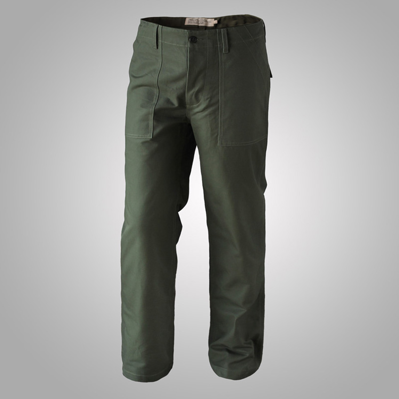 Vietnam War OG 107 Deck Pants US Army Works Baker UTILITY Fatigue Straight Trousers Mens Cotton Military Cargo Pants
