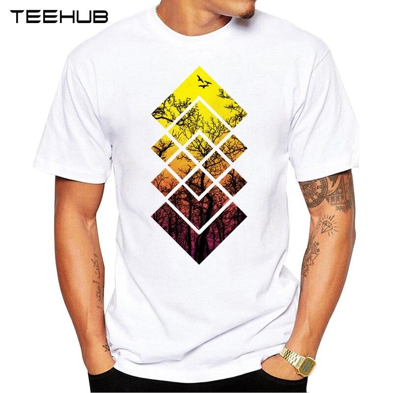 2452ff3f 2019 TEEHUB Summer Fashion Beautiful sunset Printed T-Shirt Short Sleeve  Popular Design Tops Novelty