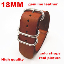 zulu straps - Wholesale 10PCS/lot High quality 18MM 20MM 22MM 24MM Nato strap genuine leather Watch band NATO straps watch strap