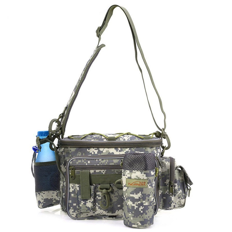 Canvas Multifunctional outdoor bag <font><b>Lure</b></font> Waist Pack Messenger Bag Pole Package Fishing BagTackle Bag 40*19*15cm