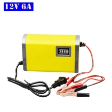 цены на 12V 6A Universal Smart Car Battery Charger Power Charge AGM VRLA Gel Lead Acid Motorcycle Charger 12V Pulse Repair LCD Display  в интернет-магазинах
