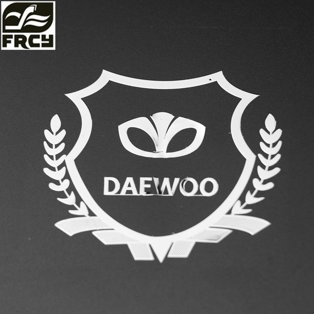 Car-Styling Metal Car Sticker Accessories Case For Daewoo Logo Winstom Espero Nexia...