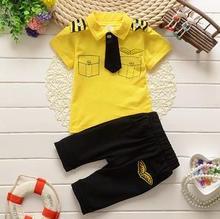 2017 Summer Baby Boys Clothes Kids gentleman Short Sleeve Clothing Set Star Toddler Boys short sleeved T-Shirts+Children Shorts