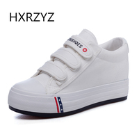 HXRZYZ Women Platform Sneakers Flat Canvas Shoes Spring Summer Fashion Breathable Women Classic Black White Outdoor