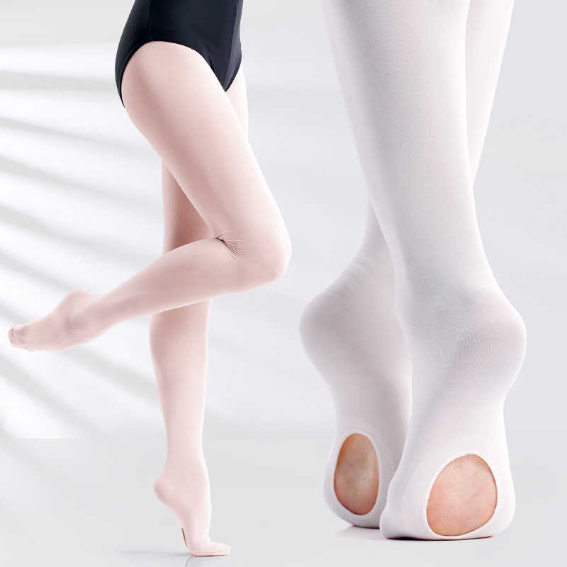 75e750b0a3896 Professional Kids Children Girls Soft Microfiber Convertible Ballet Dance  Tights 60D 3 Pairs