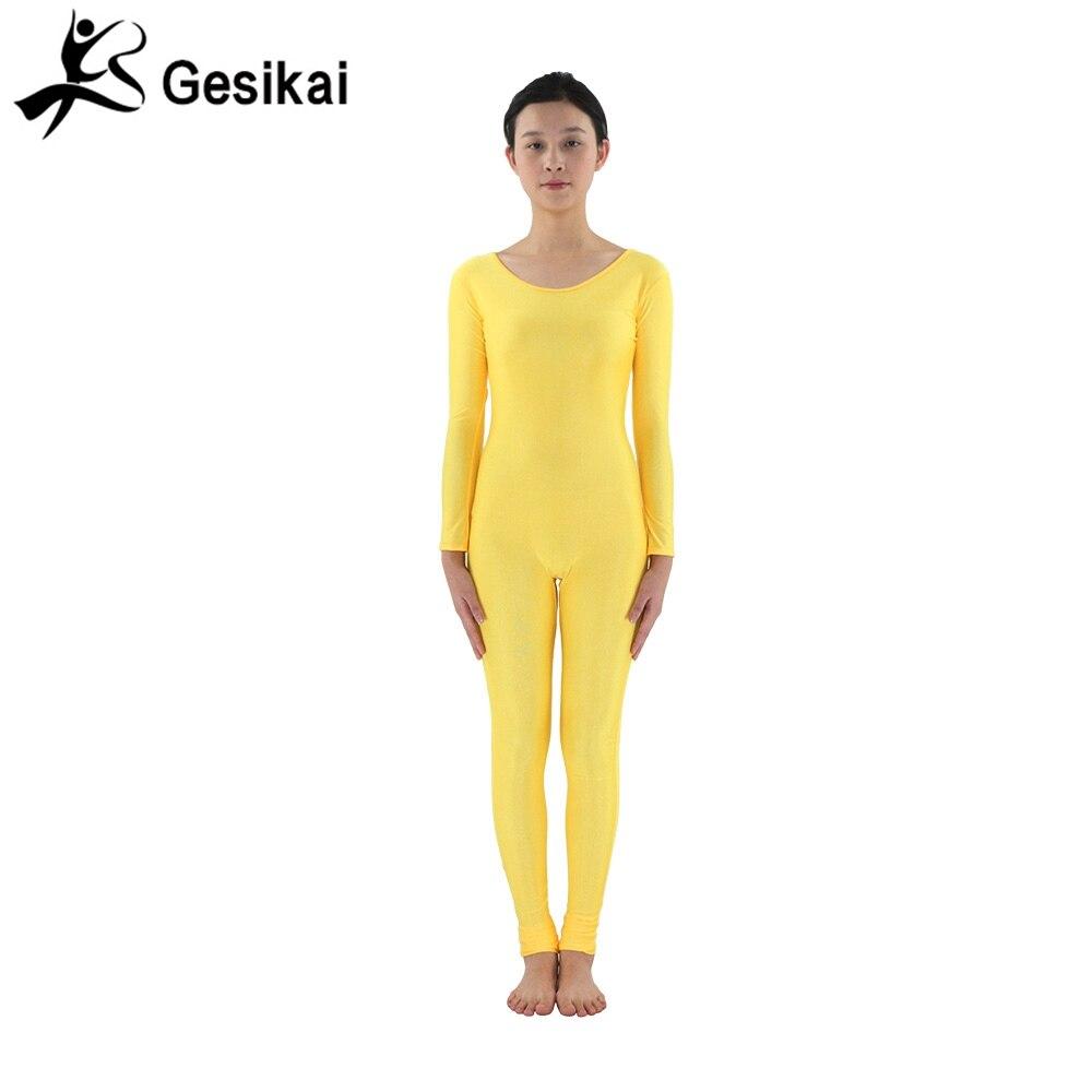24 horas despachadas para mujer trajes amarillos mangas largas yoga - Novedad