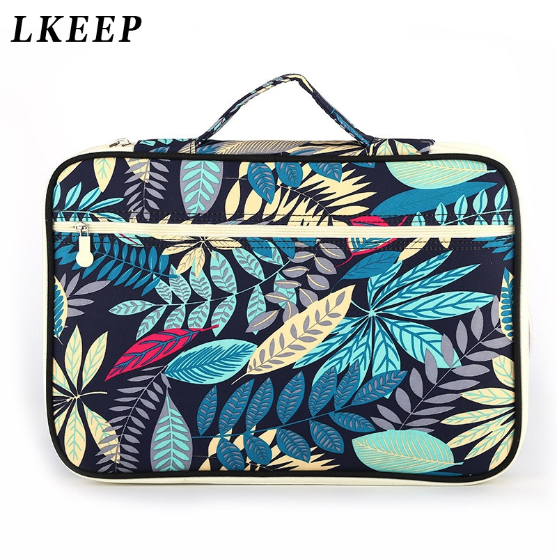New Leaves Waterproof Business Book A4 Paper Bags Briefcases Ocument Bag Notebooks Pens IPad Multifunction Organizer Bag