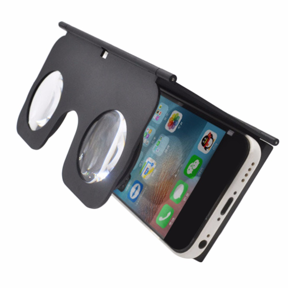 VR Fold Foldable VR Virtual Reality 3D Glasses Cardboard VR Box Phone Holder Suitable For 3.5-6 Inch Smart Mobile Phone