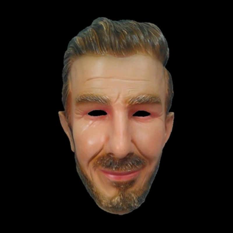 Горячая Реалистичная знаменитая тушь для ресниц Футбольная маска для лица Beckham знаменитостей Звездная маска