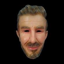 Hot Realistic Famous Overhead Mascara Soccer football face mask Beckham Celebrities Star Mask