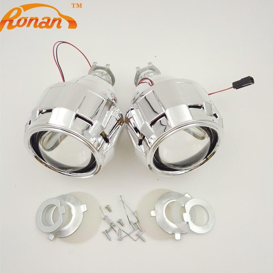 ФОТО Car Styling 2.5inch Ultimate HID Bi xenon Headlight Projector Lens LHD/RHD Light Glasses H7 H4 Headlamp Lenses Use H1 Bulbs
