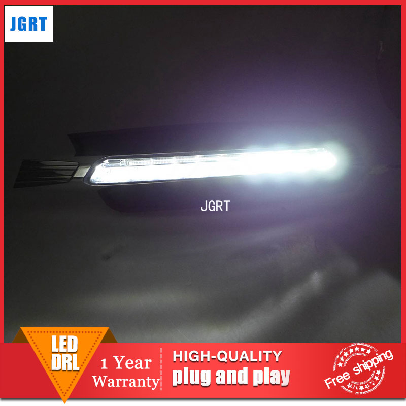 car styling 2013-2014 For Audi A6L  LED DRL For A6L  led fog lamps daytime running light High brightness guide LED DRL car styling 2013 2014 for toyota hilux led drl for hilux led fog lamps daytime running light high brightness guide led drl