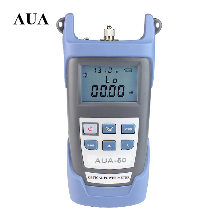 Compteur de puissance optique de AUA-50 d'outils optiques de fibre de FTTH avec le connecteur de FC SC-50 ~ + 26 mètre de Fiber de dBm pour la longueur d'onde de CATV 7