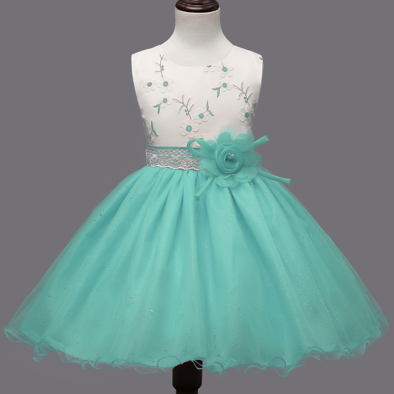 Fashion kids dresses for girls clohtes summer flower for 10 year old dresses for weddings