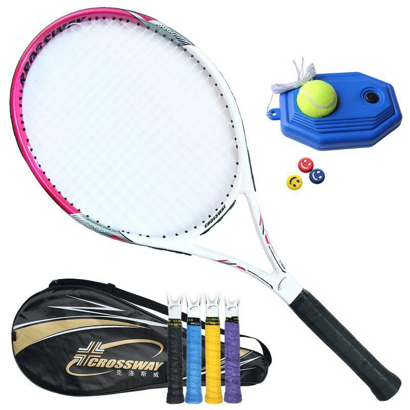 Tennis Racket Raquets 55-60 Lbs Carbon Fiber High-quality Nylon For Women Training Entertainment With Bag Ball String Sweatband