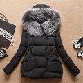 Mulheres Casacos de Inverno E Casacos Mulheres Jaqueta de Inverno Longo Com Capuz De Pele Casaco de Inverno Mulheres De Algodão Acolchoado Jaqueta Parka Manto HB0242