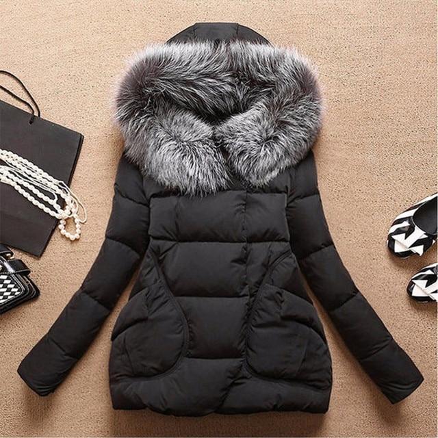 Womens Winter Jackets And Coats Winter Jacket Women Long Fur Hooded Winter Coat Women Cotton Padded Jacket Parka Cloak HB0242
