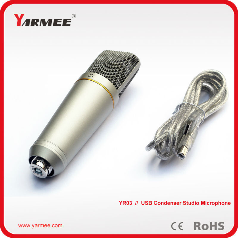 Good quality YARMEE YR03 USB Condenser Studio Recording Microphone with Shock Mount, USB Cable best quality yarmee multi functional condenser studio recording microphone xlr mic yr01