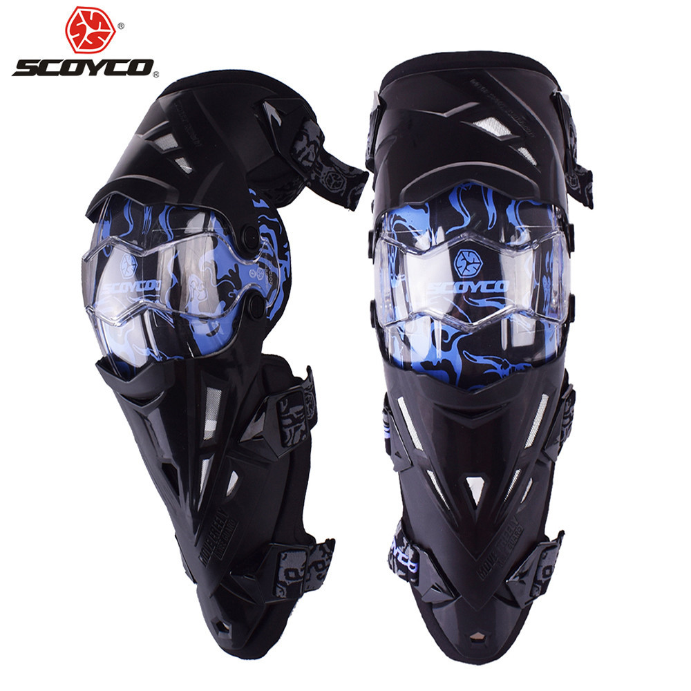 SCOYCO Motorcycle Knee Pads Protectors Guards Armor Motocross Off Road Equipment Kneepad Protection Protective Gear Accessories