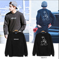 Kpop BTS Bangtan Boys V airport Donald Duck printing round neck Hoodies k-pop bts autumn Outerwears Long sleeve Sweatshirts coat