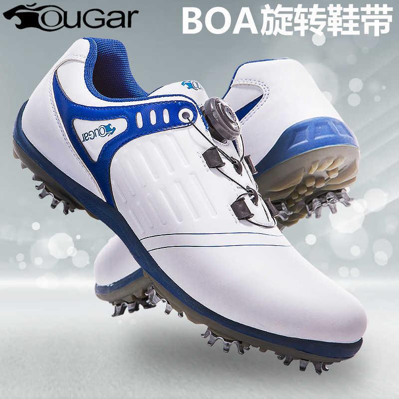 חדש סגנון גולף נעלי גברים של ידיות אבזם סניקרס מאמני עמיד בפני החלקה ספורט נעלי Skidproof Spikes מאמני