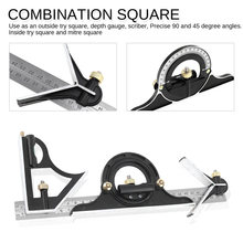 3in1 Combination Square Set 300mm Angle Ruler 180 Degree Pro