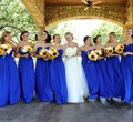 Long Chiffon Open Backless Sweetheart Women Party Gowns For Weddings Royal Blue Bridesmaid Dresses Robe Demoiselle D'honneur