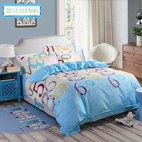 BEST.WENSD wholesale 4pcs comforter bedding sets Duvet Cover+Bed sheet+Pillowcases Twin Queen King bedclothes housse de couette