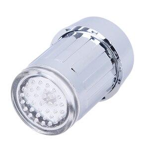 Image 3 - LED Water Kraan Streamen Licht 7 Kleuren Veranderen Glow Shower Tap Hoofd Druk Sensor Badkamer Temperatuur Keuken Accessoires