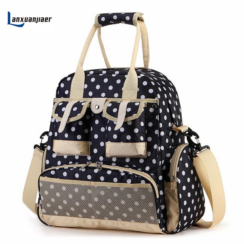 New Fashion Baby Diaper Backpack Shoulder Baby Maternity Mother Bag Baby Diaper Nappy Changing Bag Stroller Bag Multifunctional