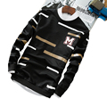 Newest style cool men  M letter hoodies men's sweatshirts o-neck Long sleeve pullovers high quality