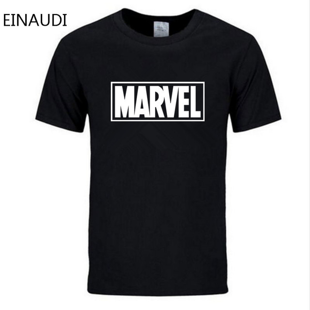 EINAUDI 2018 New Fashion MARVEL t-Shirt men cotton short sleeves Casual male tshirt marvel t shirts men tops tees Free shipping