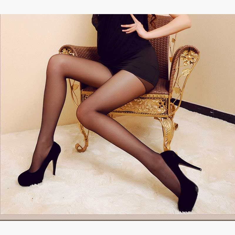 Women 4 Colors 5D Thin Elasticity Tights Sexy Nylon Spandex Lady Transparent Thin Female Stockings Office Light Color Pantyhose
