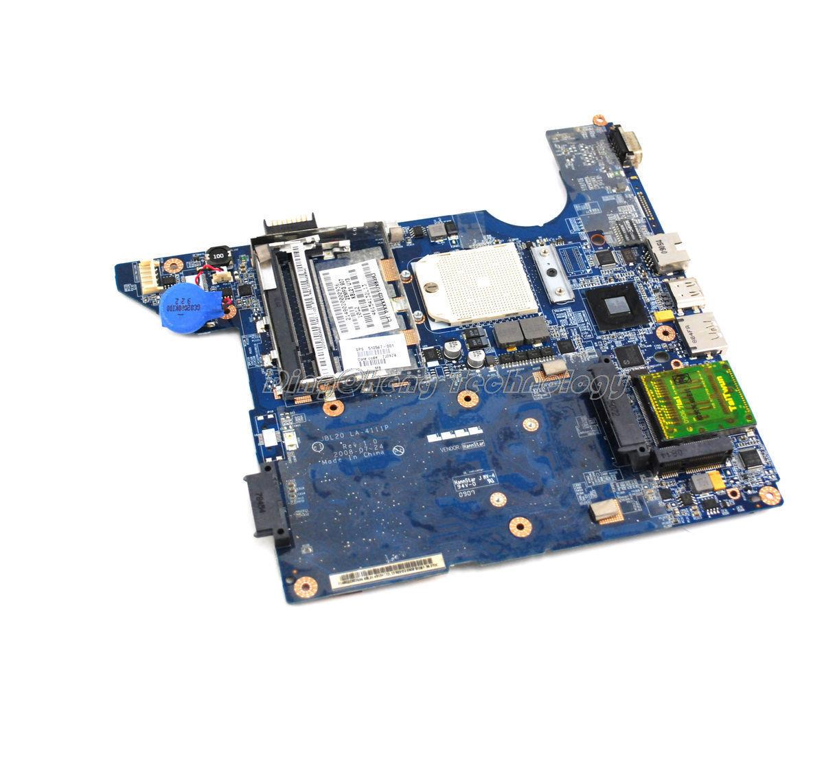 SHELI laptop Motherboard For hp Compaq CQ40 510567-001 JBL20 LA-4111P integrated graphic card 100% tested fully
