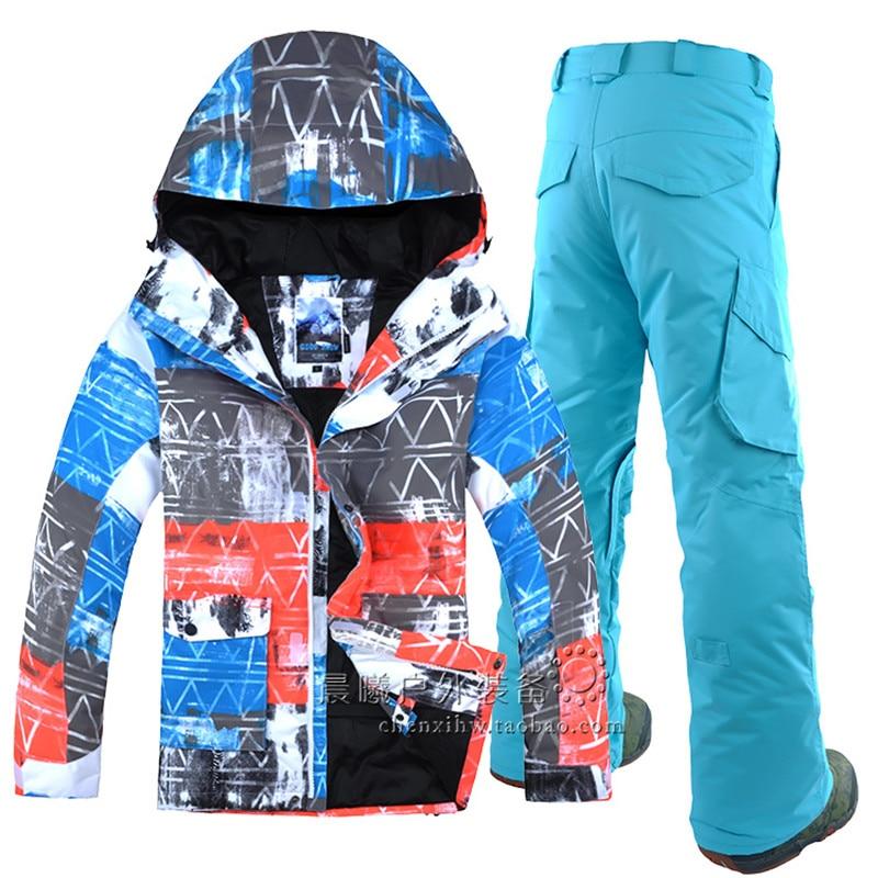 GSOU SEMÉES Coréenne veste de ski et snowboard double planche de Snowboard costume de loisirs de plein air sport hommes coupe-vent imperméable combinaison de ski
