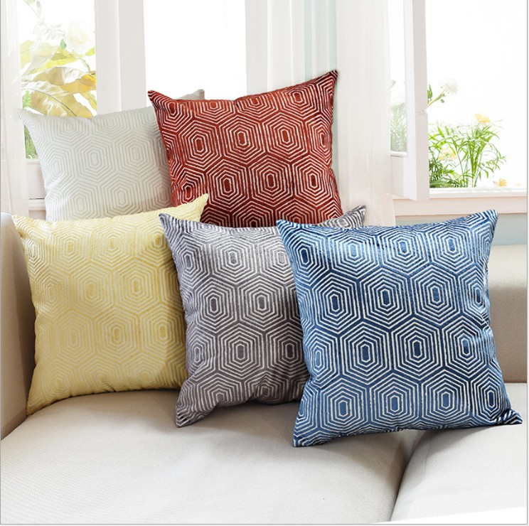 Aliexpress.com : Buy Luxurious Flocking Velvet Pillow