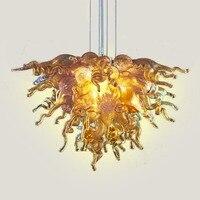 무료 배송 예술적 램프 붕 규산염 입 꽃 저렴한 크리스탈 미니 중국어 샹들리에