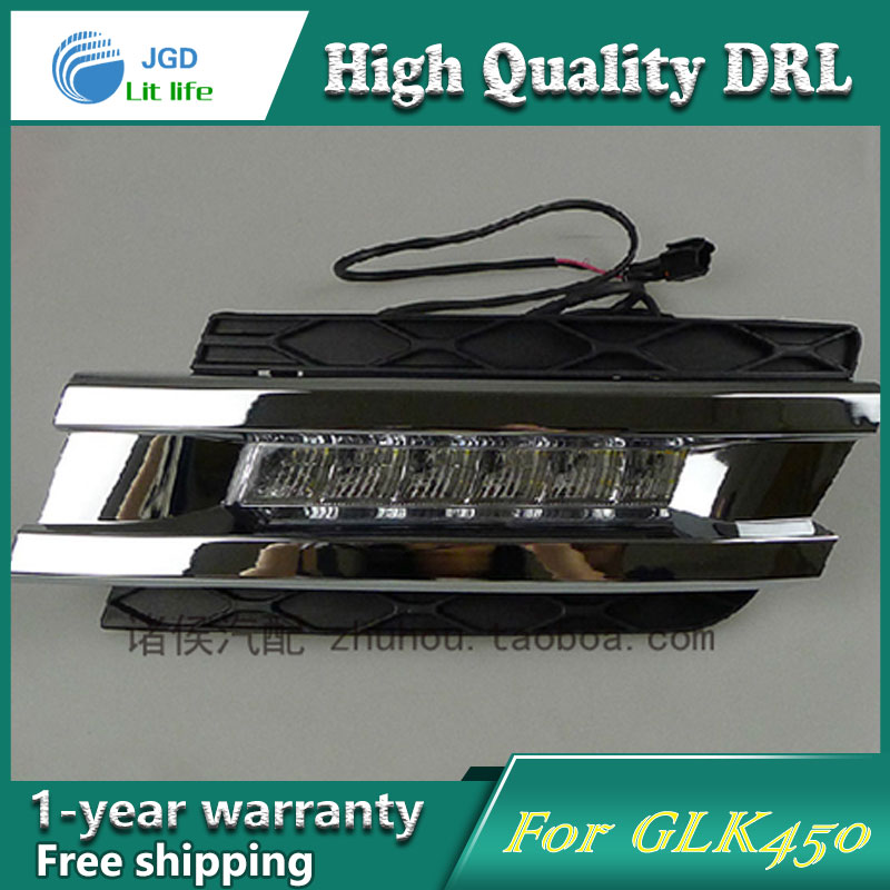 Бесплатная доставка !12В 6000K СИД DRL дневного света чехол для Benz GLK450 2006-2009 противотуманная фара стайлинга автомобилей