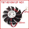 O Envio gratuito de New T & T 6010M12F ND1 12 V 0.20A 55mm 39*39*39mm da Placa Gráfica/Placa De vídeo VGA Cooler Fan 2 Fios 2Pin