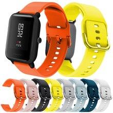 Mijobs 20MM Silicone Watch Strap For Xiaomi Huami Amazfit Bip Watchband Bracelet Samsung Galaxy Active Garmin vivoactive 3
