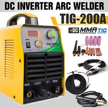 220V TIG Welder Inverter 200A HF Start TIG Welding Machine &Consumables &Helmet