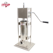 ITOP 5L Stainless Steel Manual Spanish Donuts Churros Maker Machine Frying Machine Filler Food Processor With 5Pcs Nozzles 5 pcs electrical spain spanish churros making machine