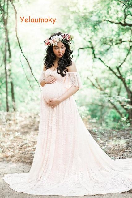 Schulterfrei schwangerschaft spitzenkleid mutterschaft fotografie ...