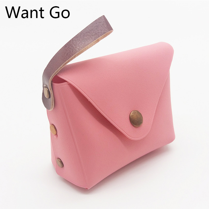 Want Go Candy Color Women Mini Coin Purse Small Coin Pouch Cute Macaron Wallets Purses Lady Pocket Money Bag Storage Key Bags
